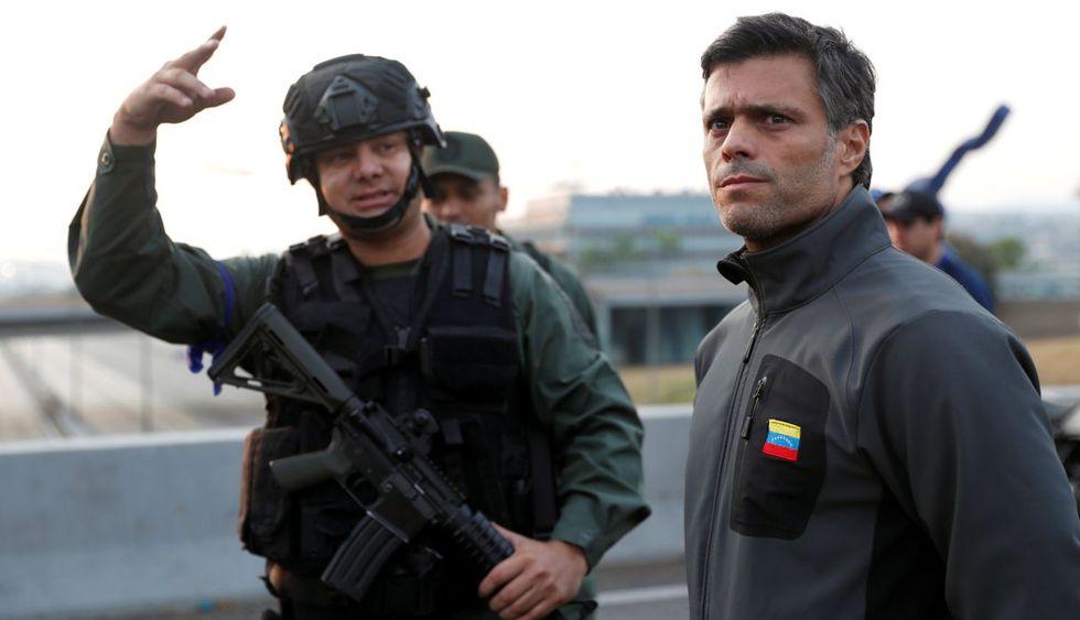 Este martes 30 de abril, Leopoldo López fue liberado por militares a favor del presidente encargado de Venezuela, Juan Guaidó. (Foto: Reuters)