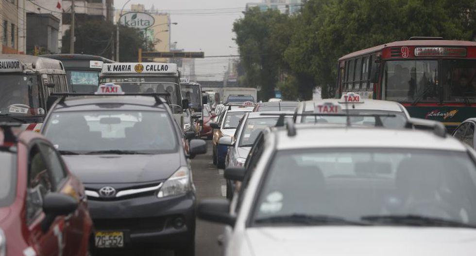 Gran congestión vehicular. (Rafael Cornejo)