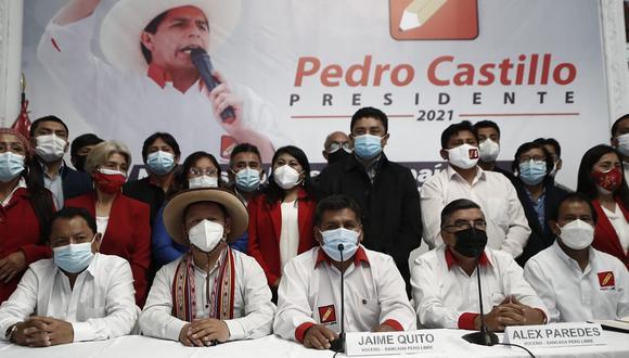 La bancada de Perú Libre señala que Fuerza Popular busca dilatar la proclamación de presidente con los casos planteados al JNE (César Campos/GEC).