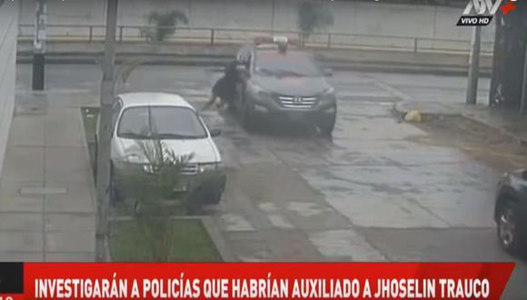 Joshelin Trauco negó que haya golpeado a los agentes que la intervinieron tras denunciar que fue víctima de violación. (ATV+)