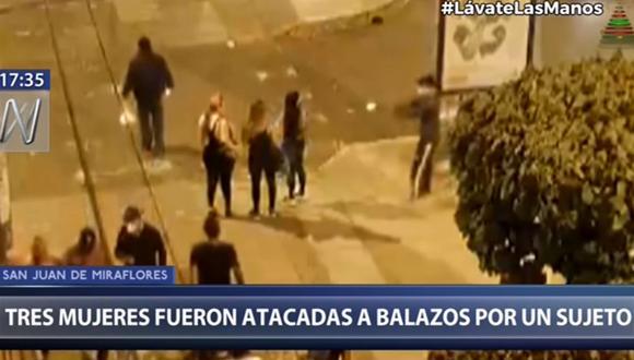El sujeto disparó contra las mujeres cuando se encontraban reunidas en una esquina de la calle Los Lirios. (Canal N)