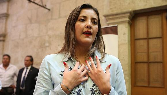 Yamila Osorio fue gobernadora regional de Arequipa. (GEC)