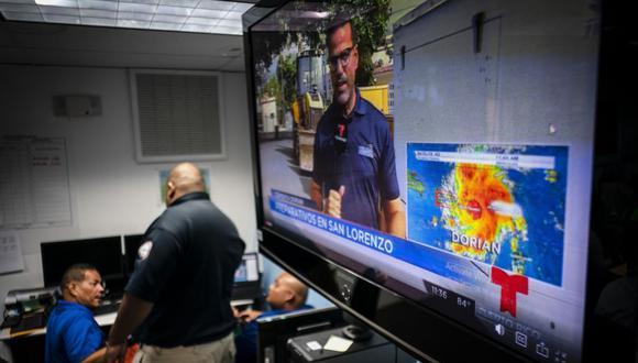 La prioridad de los servicios es recopilar tanta información como sea posible sobre el huracán Dorian en sí. (Foto: AFP)