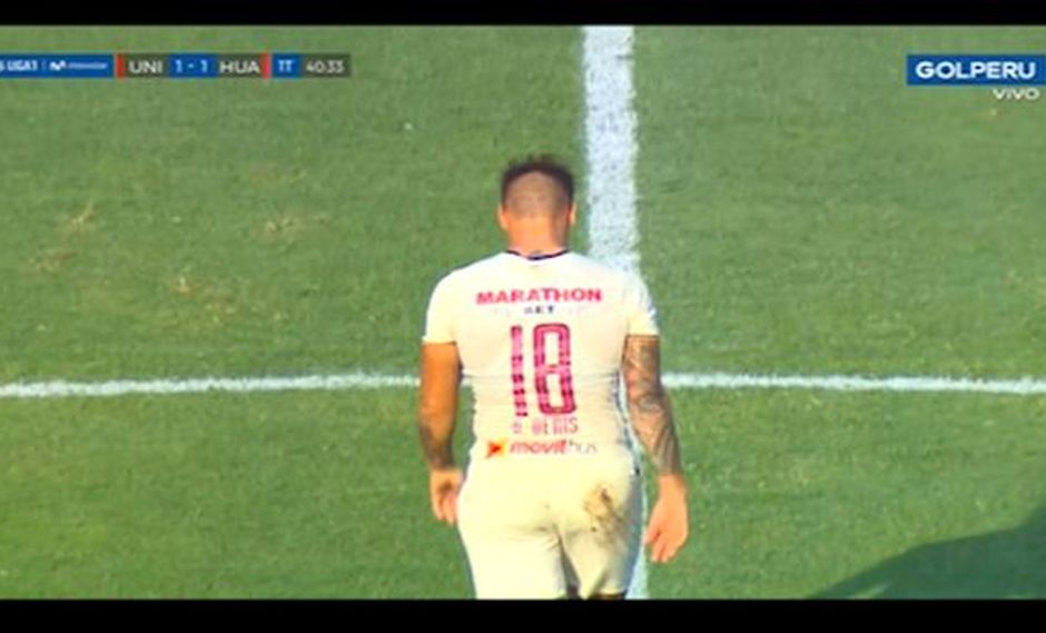 Germán Denis puso el 1-1 sobre Sport Huancayo. (Captura: Gol Perú)
