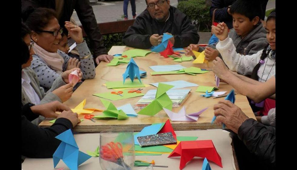 Asistentes deberán cumplir el reto de elaborar mil grullas de papel. (Difusión)