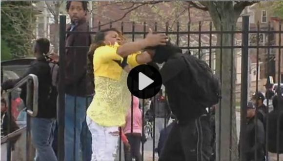 Continúan los disturbios en Baltimore (Captura)