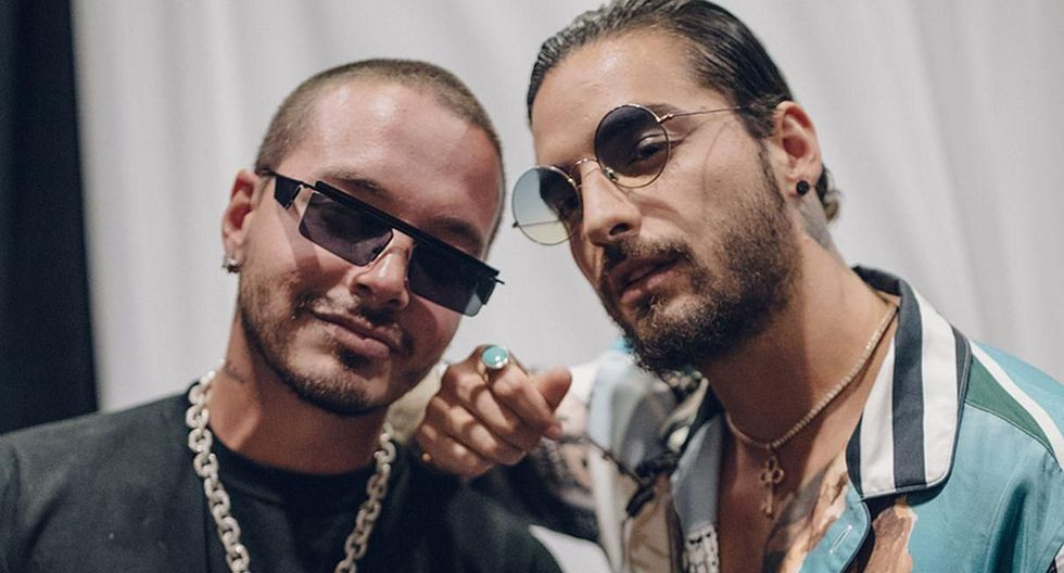 J Balvin se encontró con Maluma en al Paris Fashion Week. (Foto: Instagram)