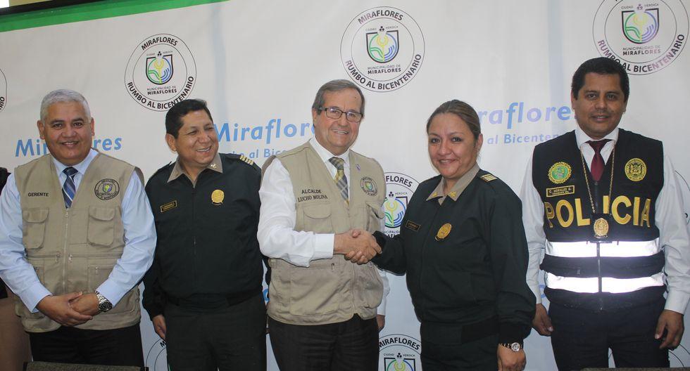 El Alcalde de Miraflores, Luis Molina, anunció alianza con la Policía Nacional.