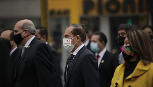 Martos dirigió al Congreso un discurso centrado en la lucha contra la pandemia. (Foto: Anthony Niño de Guzmán / GEC)