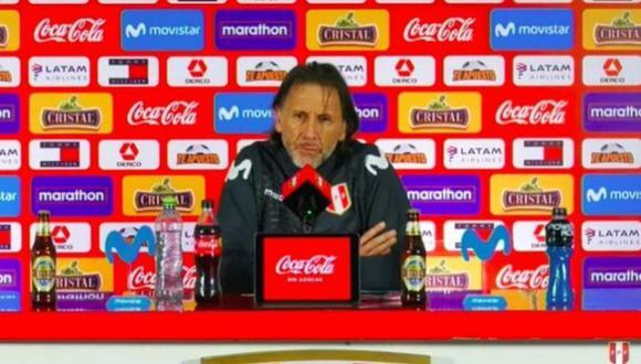 Ricardo Gareca habla sobre Jean Pierre Rhyner. (@SelecciónPerú)