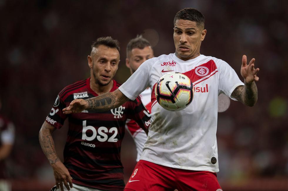 Internacional perdió 2-0 ante Flamengo por los cuartos de final de la Libertadores. (Foto: AFP)