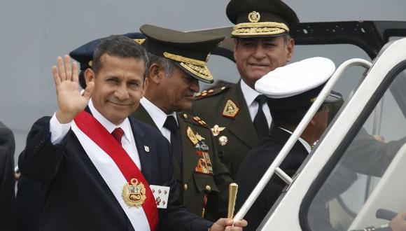 Según Zapata, el bastón que Humala recibió hoy está en manos del general Gómez de la Torre. (Martín Pauca)