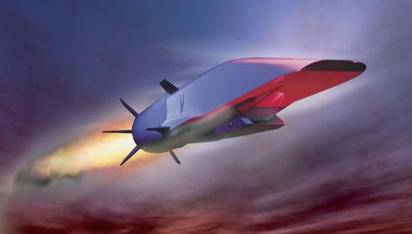 Imagen de la Fuerza Aérea de EE UU de un X-51A Waverider. (Internet)