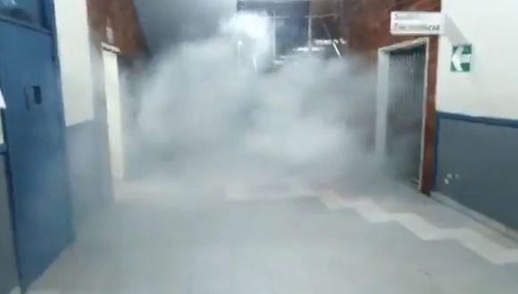 Bombas lacrimógenas al interior de la Universidad San Marcos.   Captura