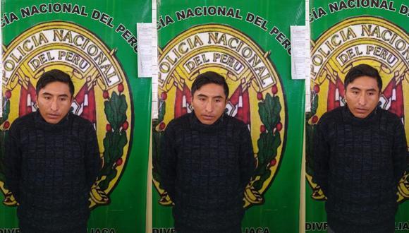 Puno: Agentes de la comisaría de Juliaca detuvieron a un sujeto acusado de ultrajar a una menor de 12 años en su casa. (Foto PNP)