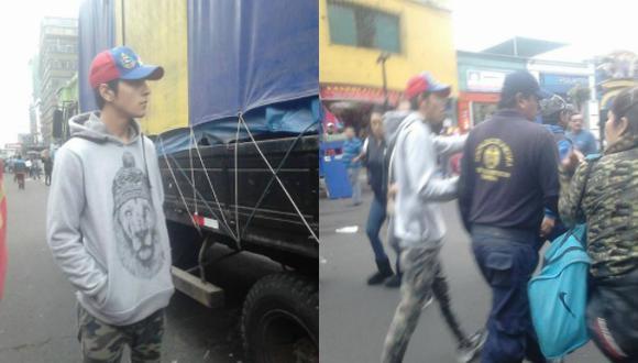 El joven fue defendido por transeúntes de Gamarra. (Facebook/Graciela Kendra)