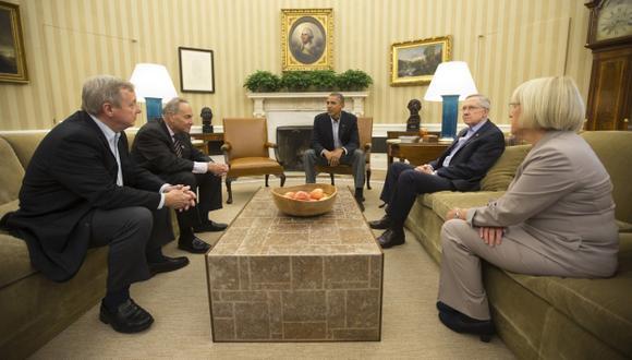 TENSA ESPERA. Presidente Obama no se reunió con senadores para darles más tiempo para negociar. (Reuters)