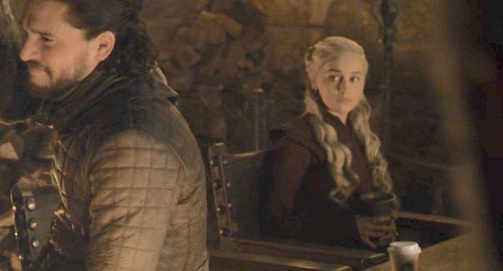 """Un vaso de Starbucks fue el protagonista del más grande error del cuarto episodio de la temporada final de """"Game of Thrones"""". (Foto: Captura)"""