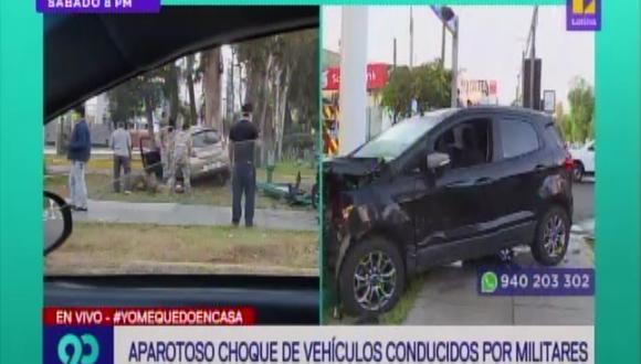 Accidente vehicular dejó un herido en pleno estado de emergencia nacional. (Foto: Captura Latina)