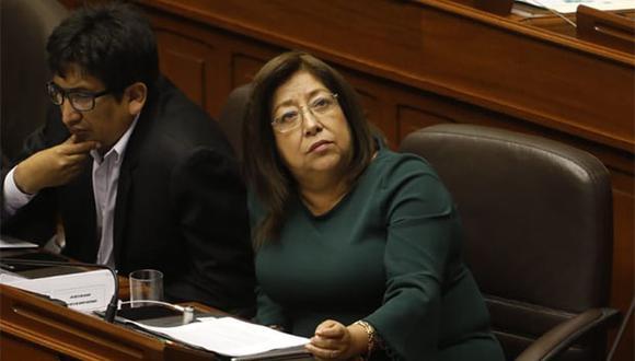 María Elena Foronda expuso sus alegatos de defensa durante el pleno de hoy. (Foto: Piko Tamashiro / GEC)