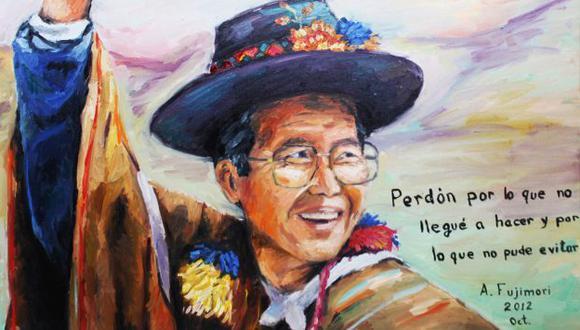 SÍ ES. Alejandro Aguinaga dice que la pintura es de hace seis meses, pero el mensaje, de hace unos días. (Difusión)
