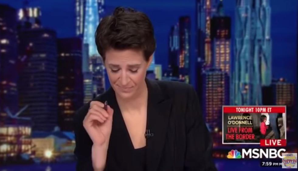 La periodista Rachel Maddow rompió en llanto al conocer que niños migrantes son separados de sus familias. (Cadena MSNBC)