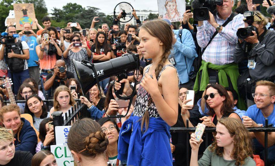 El mundo de Greta. (Foto: AFP)