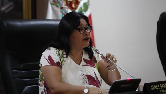 La congresista Janet Sánchez, de Peruanos por el Kambio, preside la Comisión de Ética. (Foto: GEC)