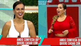 Angie Arizaga sorprende a todos al revelar sus planes de boda con Jota Benz