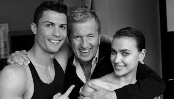 Cristiano Ronaldo e Irina Shayk fueron fotografiados por Testino. (Instagram)