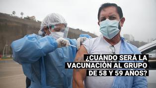 ¿Cuándo empezaría la vacunación contra el COVID-19 para adultos de 58 y 59 años?