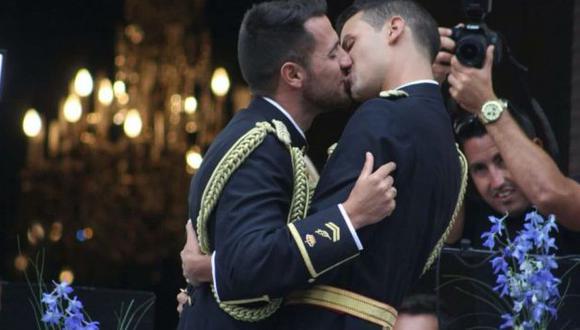 España: Primera boda gay de la Policía Nacional. (Difusión)