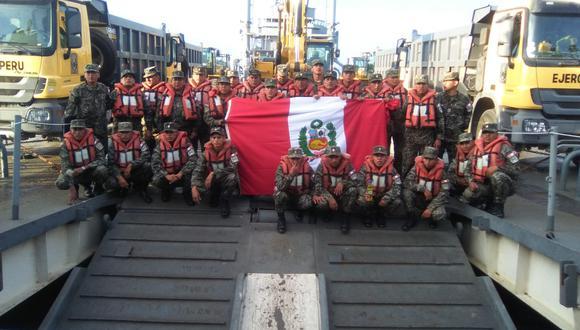 La tropa peruana estuvo en Ecuador desde el 21 de abril al 20 de mayo de 2016.