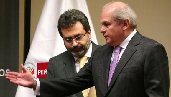 Juan Jiménez y Pedro Cateriano, los más resistidos del gabinete. (David Vexelman)