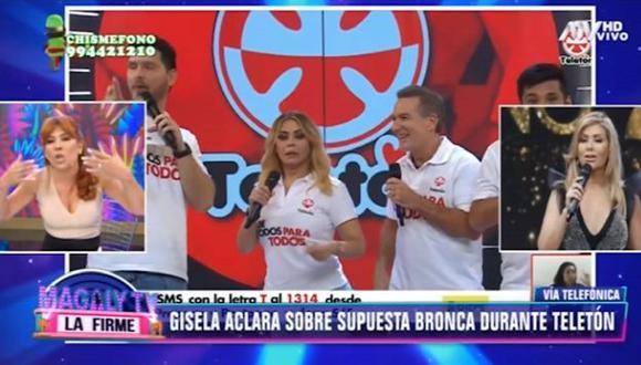 Gisela Valcárcel negó problemas con Tula Rodríguez durante realización de la Teletón. (Imagen: ATV)