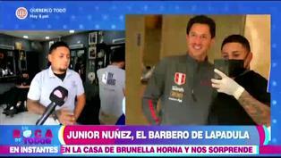 Gianluca Lapadula conoció al barbero oficial de la selección peruana