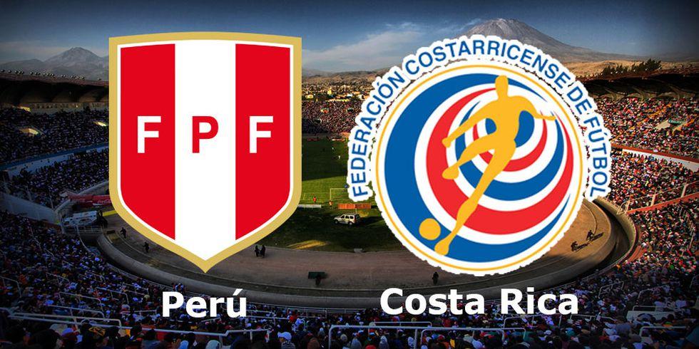 Perú vs. Costa Rica juegan este 20 de noviembre en la UNSA de Arequipa por Amistoso FIFA. (Foto: Composición)