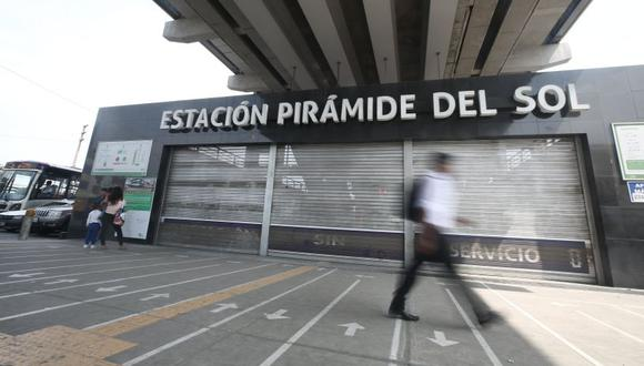 La estación Pirámide del Sol no presenta daños en sus estructuras. (El Comercio)