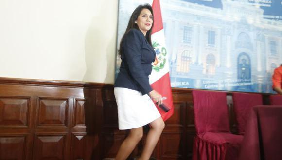 Congreso: Ana María Solórzano también acompañó a la pareja presidencial en viajes del Ejecutivo y del Partido Nacionalista. (Mario Zapata)