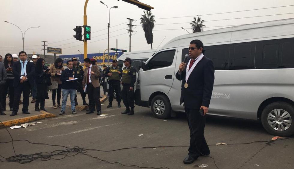El fiscal anticorrupción, Reynaldo Abia, dirige las diligencias. (Foto: Ministerio Público)