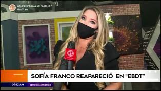Sofía Franco aparece de nuevo como conductora de 'En boca de todos'