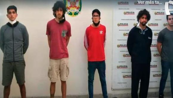 Cinco jóvenes son los implicados en la denuncia de violación colectiva a una joven que asistió a una fiesta dentro de una vivienda en Surco. (Captura: Buenos Días Perú)