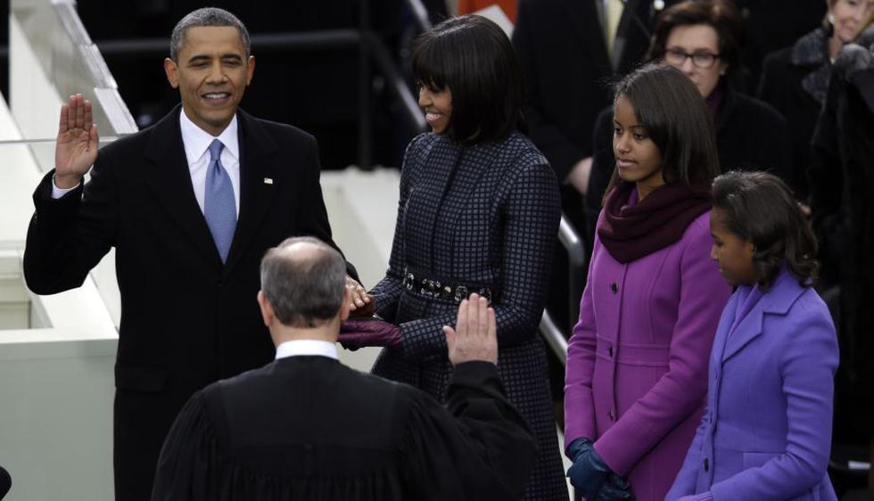 Barack Obama juramenta como presidente de los Estados Unidos. (AP)