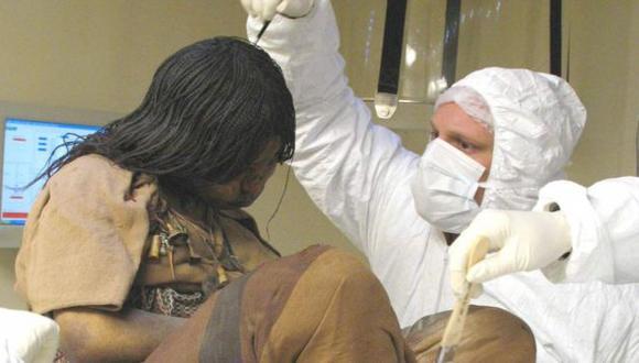 Momia hallada en Salta en 1999 de una adolescente de 13 años. (Internet)
