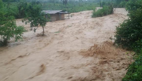 Huánuco: as inundaciones de los predios se registraron el último 27 de diciembre, a consecuencia de intensas precipitaciones pluviales. (Foto: Difusión)