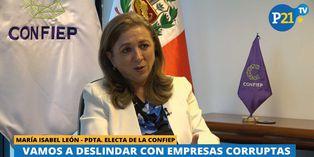 """María Isabel León: """"Vamos a deslindar con empresas corruptas"""""""