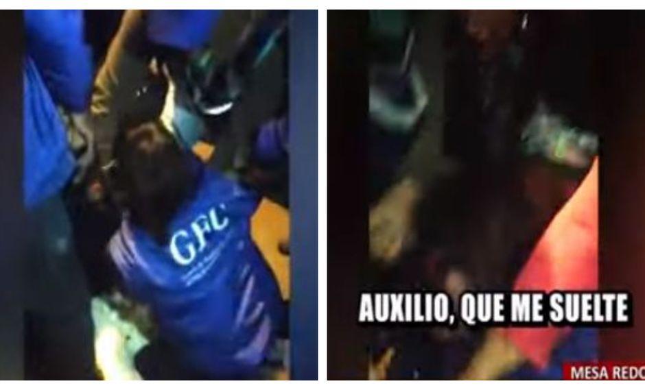 Imágenes muestran el ataque a la fiscalizadora de la Municipalidad de Lima por parte de una vendedora ambulante en Mesa Redonda. (Video: Captura Buenos Días Perú)