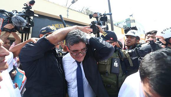 José Domingo Pérez presentó una denuncia por la agresión que sufrió en la comisaría de Chorrillos. (Foto: Alessandro Currarino / El Comercio)