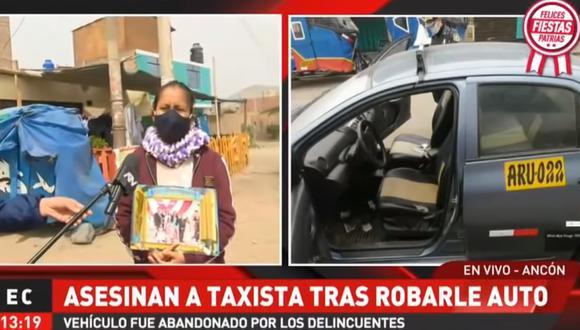 Graciela Pérez, pareja de Joel Rosales Basilio, indicó que el vehículo que usaba el padre de sus hijos fue hallado en Comas. (ATV+)