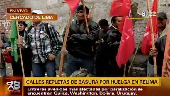 Trabajadores de Relima exigen un aumento de S/.7. (Canal N)